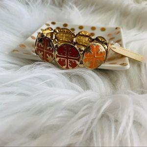 NEW Gold & orange T bracelet